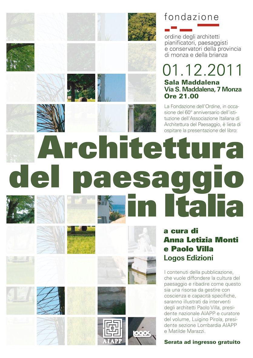 Presentazione: Architettura del paesaggio in Italia