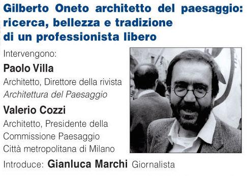 Gilberto Oneto Architetto del Paesaggio