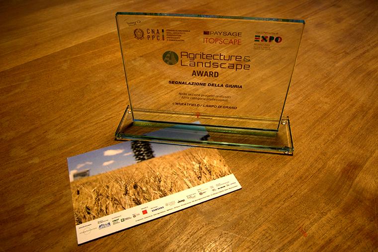 Agritecture award Un premio per Wheatfield