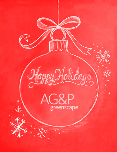 AG&P greenscape Winter greetings 2016