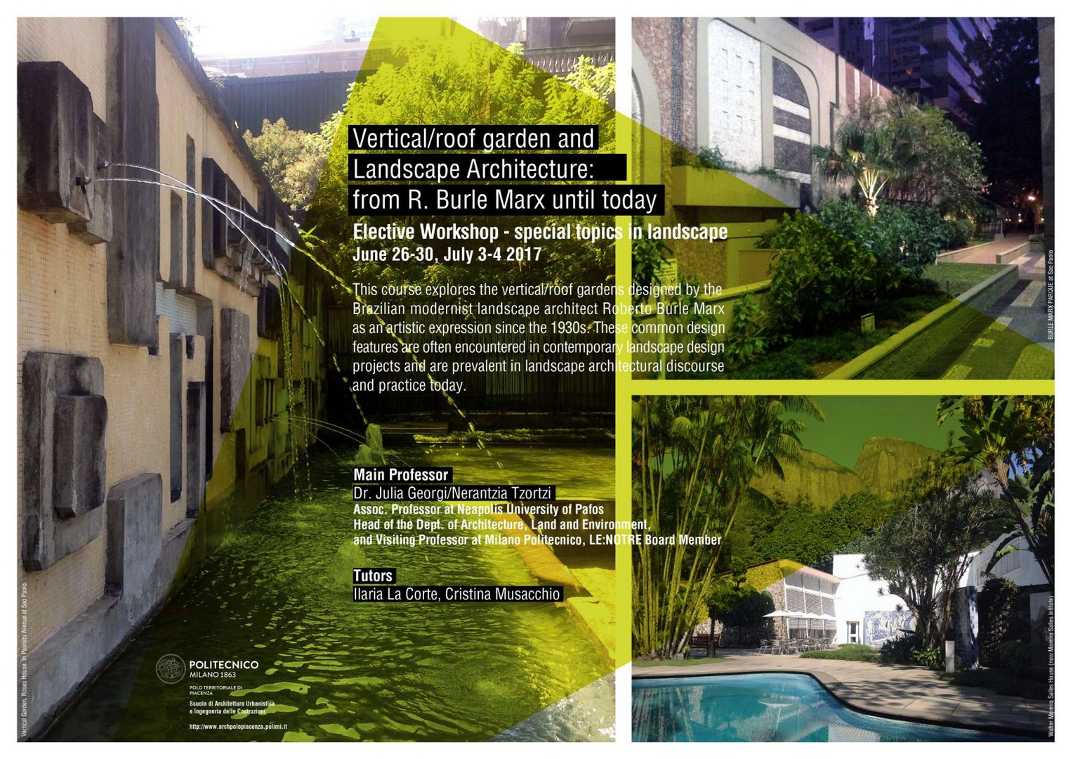 Elective Workshop: from R. Burle Marx until today