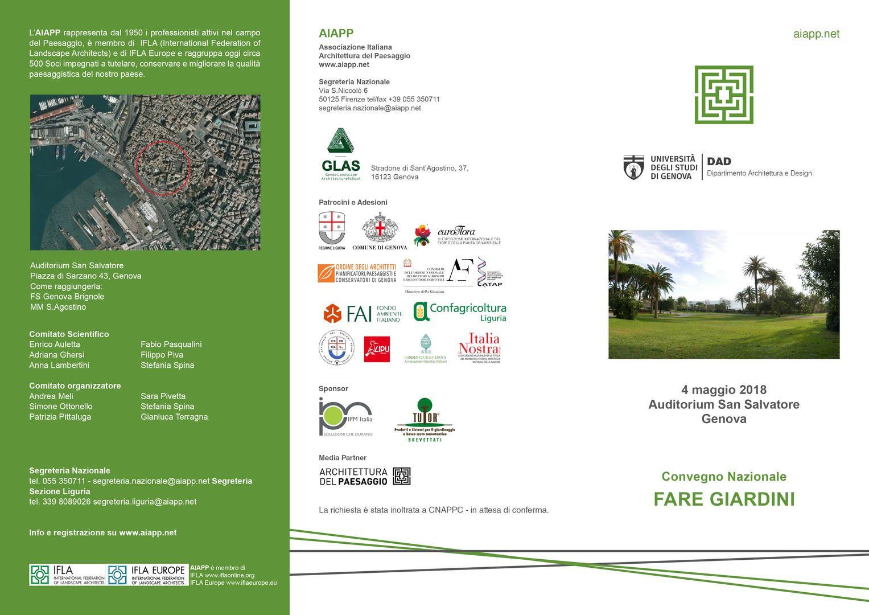 """Convegno nazionale AIAPP """"Fare giardini"""""""