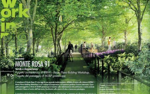 Monte Rosa 91 sul nuovo numero di Topscape Paysage