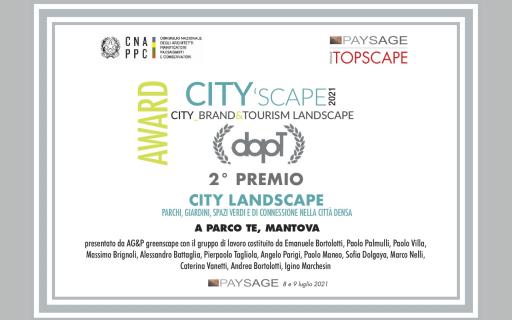 CITY'SCAPE: CITY_BRAND&TOURISM LANDSCAPE AWARD, 2° premio per il Parco Te di Mantova