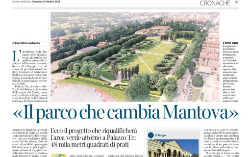 AG&P greenscape e Parco Te sul Corriere della Sera